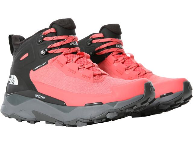 The North Face Vectiv Exploris FutureLight Mid Shoes Women, rood/zwart